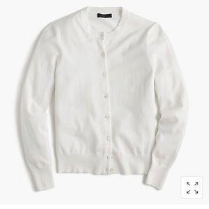 J Crew Cotton Jackie cardigan sweater - Size Large